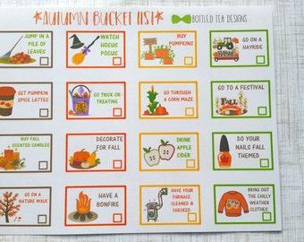 Fall // Autumn Bucket List (Set of 16) Item #291