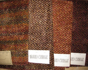 Chenille Herringbone Contemporary Tweed Designer Fabric Sample Upholstery Pick a Color