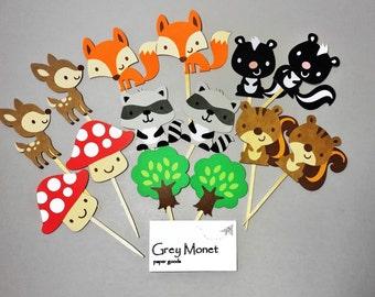 Woodland Animals - Forest Animals - Woodland Themed Party - Woodland Baby Shower - Woodland Party - Woodland Decor - Woodland Creatures