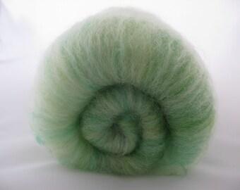 Merino Batts 100g Meadow/Luxury Wool Spinning Fiber/Green Spinning Fiber/Felting Wool