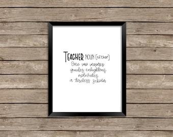 teacher definition- print