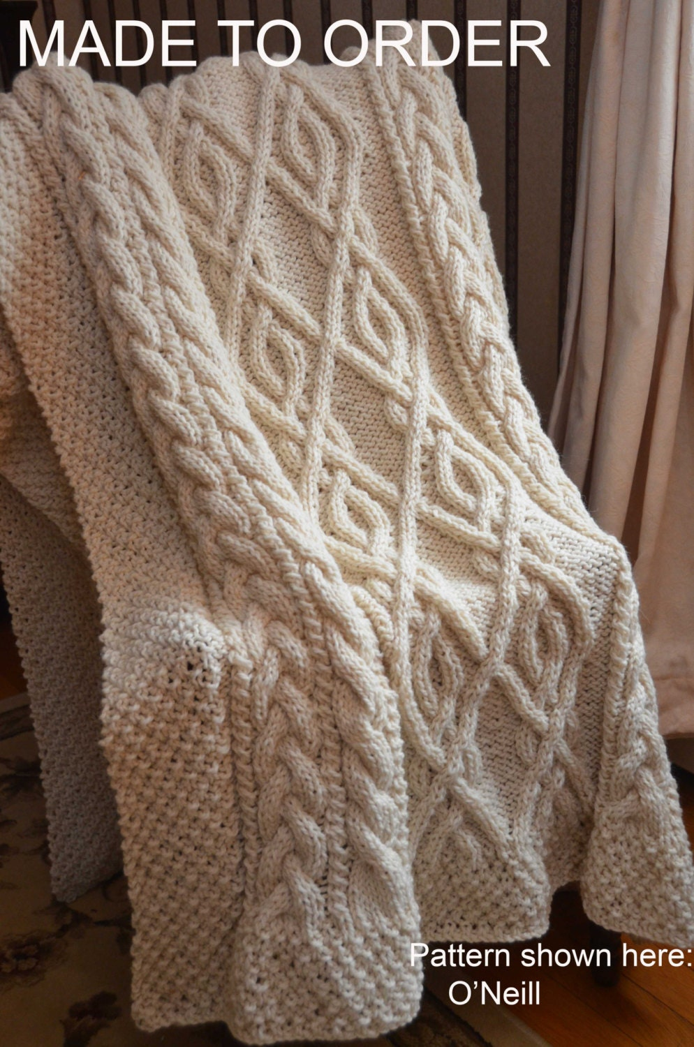 Perfect Fisherman Knit Afghan Pattern Free Motif - Easy Scarf ...