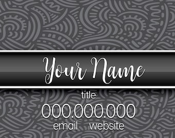 Gray Abstract Business Card