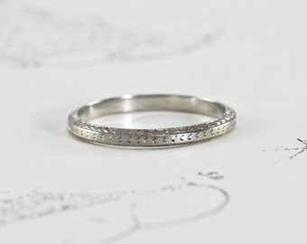rings ring shaped floral wedding and etched hand engraved uk slim f vintage pattern diamond ladies ladys