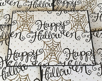 Halloween Note Card | Halloween Party Invitations | Halloween Glam Card Set | Blank Note Card | Set of 6 | Seasonal Card | Thinking of You