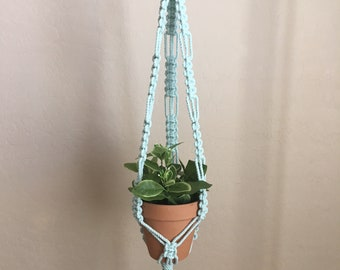 Mint Macrame Plant Hanger  Mint  Plant Hanger  Macrame  Boho  Beachy Bohodecor  Home Decor