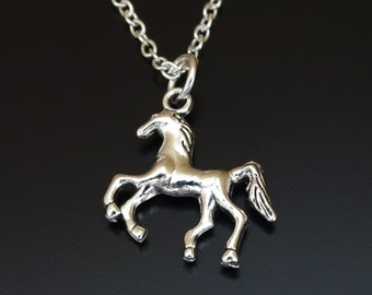 Horse Necklace, Horse Charm, Horse Pendant, Horse Jewelry, Equestrian Necklace, Equestrian Girl, Equestrian Jewelry, Horse Lover, Horse Gift