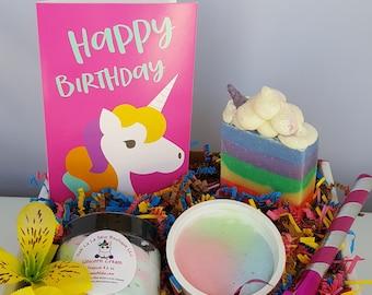 UNICORN birthday gift, Unicorn Gifts for Girls, Unicorn Gift Box, Birthday Box, Birthday Unicorn Box, Birthday gift for friend, Unicorn Gift