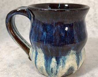 Pottery, Wheel Thrown Ceramic Stoneware Coffee or Tea Mug Cup