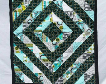 Crib Quilt, Baby Quilt, Around The World Quilt, Quilt For Baby