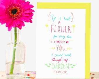 Flower Garden Sentimental Greeting Card