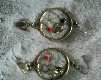 vintage cactus dreamcatcher earrings