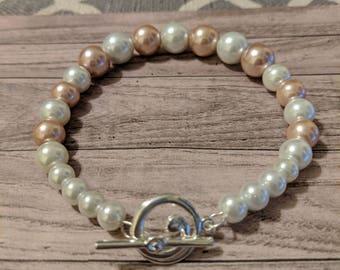Pink and Cream Bracelet