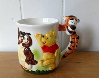 MEMORIAL DAY SALE vintage Walt Disney Winnie the Pooh Tigger mug