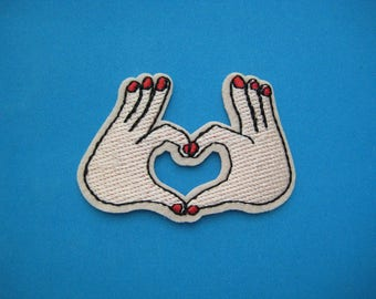 Iron-on Embroidered Patch LOVE Sign 2.75 inch