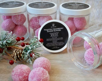 Frosted Cranberry Sugar Scrubs | Bath and Body Products | Spa Products | Sugar Scrubs | relax | sweet gift | Natural