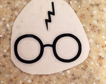 Glasses and Lightening Bolt Vinyl Decal