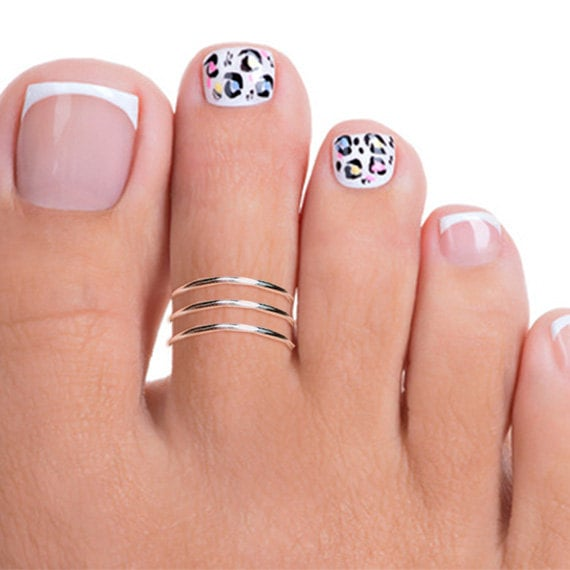 Sterling Silver Triple Band Toe Ring ckeYQFKrm