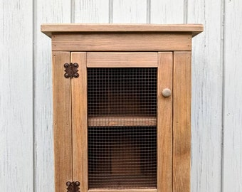 The Coop: Wall Cabinet (Barnboard, Rustic, Primitive, Shelf)