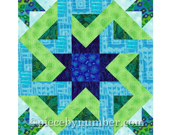 Octagonia Quilt Block Pattern Paper Pieced Quilt Patterns