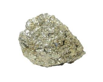 Golden Metallic Pyrite Crystal Mineral Specimen Earth Nugget Fools Gold