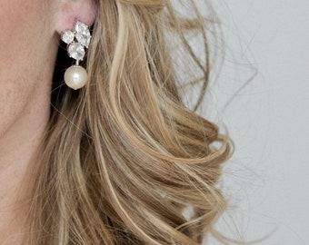 Bridal Earrings Vintage, Wedding Earrings, Crystal Earrings, Wedding Jewellery