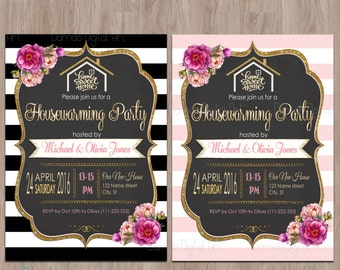 Housewarming BBQ Party Invitation Housewarming Invitation