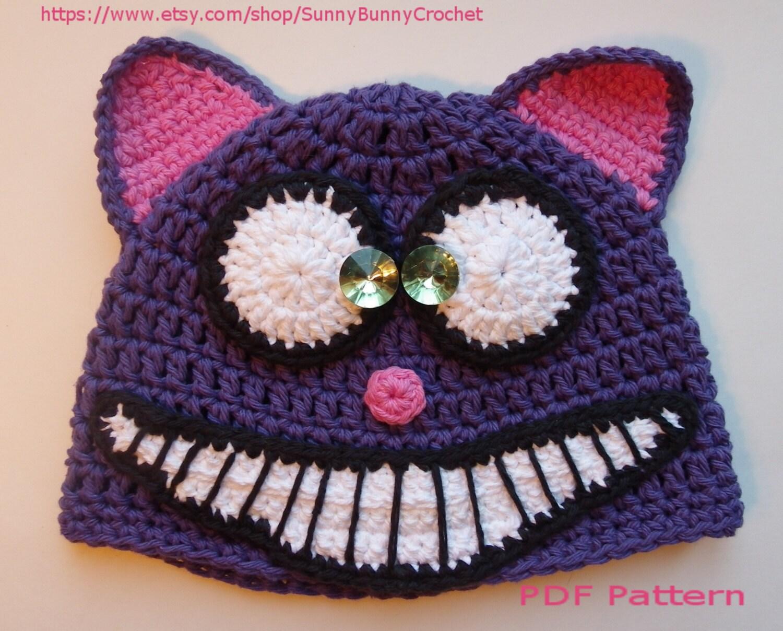 ANIMAL HAT PATTERN, Cat Crochet Hat, Halloween hat, Tuque, Beanie ...