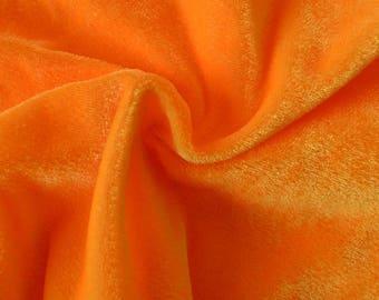 Princess ORANGE Polyester Stretch Velvet Fabric by the Yard, Half Yard, Sample - 10001