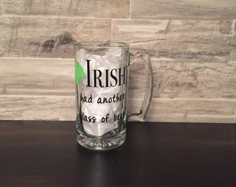 Irish I had another glass of beer glass beer mug