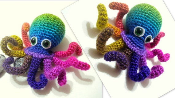 Easy Amigurumi Octopus : Amigurumi octopus baby toy free pattern baby toys red fox and