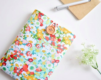 Custom Fit Kindle Case, Amazon Fire HD Case, Kindle Fire 7 Case, Paperwhite Sleeve Case, iPad Mini Tablet Padded eReader Cover - Flowers