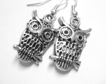 Teen Jewelry Womens Owl Earrings - Sterling Silver Clip On Earrings Options Owl Jewelry 145