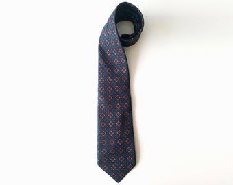 Christian Dior, silk vintage necktie, mens Dior tie, purple necktie, Christiant Dior Monsieur, handmade neck tie, Dior, gift for men