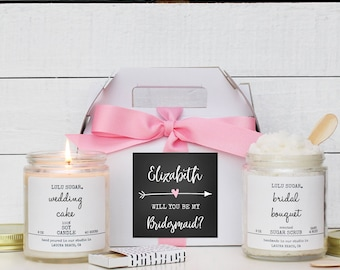Bridesmaid Gift Set | Maid of Honor Gift Set | Personalized Bridesmaid Gift | Bridal Party Thank You Gift |  -  Arrow Label