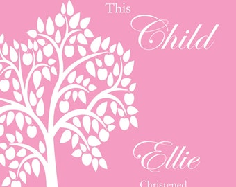 Christening Print - Girl or Boy - Bespoke