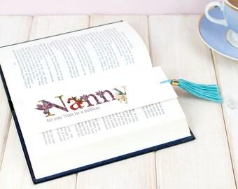 Bookmark, Floral Tassle Book mark, Tassel Book Mark, Mother's Day Gift, Book Lover Gift, Book Worm gift, Reader Gift , Reading Gift for Mum