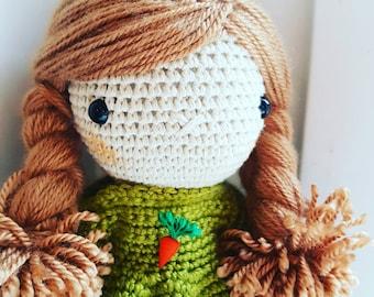 Carrot Girl - crochet doll