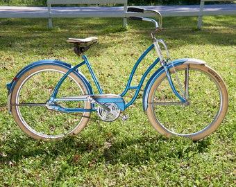 Vintage Women's Road Master Bike - 50s Beach Cruiser - Blue Bicycle