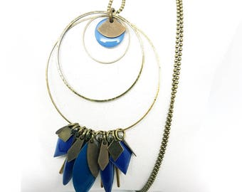 Bronze and blue necklace