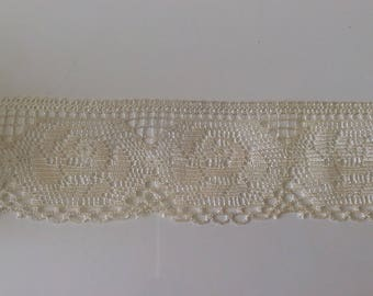 Lace imitation handmade 6 cm wide