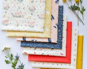 Birch Fabrics Organic  Little Fabric Bundle (8 prints)