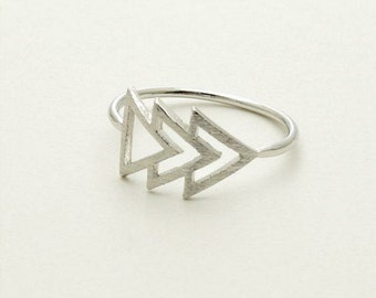 Silver 'Forward' Ring Size Uk Size' 'K'