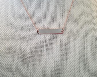 Personalized Stamped Bar Necklace