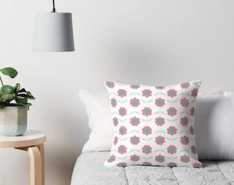 Floral sofa cushion, Floral Throw pillow, flower cushion, floral decor, pink pillow, sofa cushion, floral home, summer cushion, pink cushion