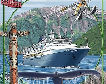 Juneau, Alaska Views (Art Prints available in multiple sizes)
