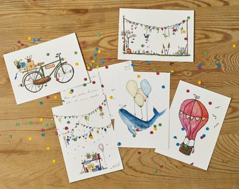 5 pack of Birthday Gereeting Cards