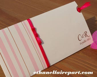 Candy - set of 10 wedding invitations