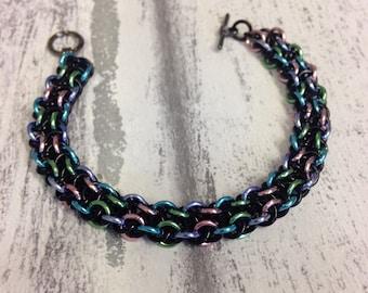 Vipera berus chainmaille bracelet