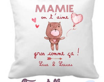 Grandma pillow - day gift for grand mothers - happy birthday Grandma - personalized pillow
